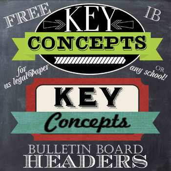 key concept poster headers for us legal paper by celebrate learning