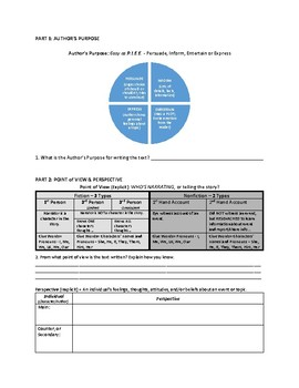Key Concepts in Literacy Worksheet