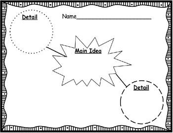 Key Details Graphic Organizers