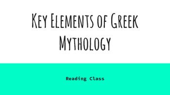 Key Elements of Greek Mythology