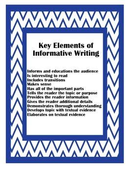 Key Elements of Informative Writing