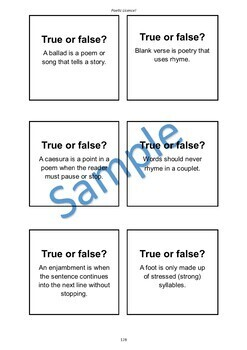 Key English Terms: Poetry Vocabulary