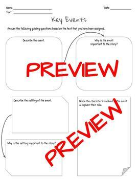 Key Events Graphic Organizer