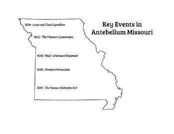 Key Events in Antebellum Missouri