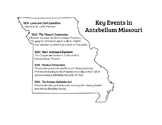 Key Events in Antebellum Missouri
