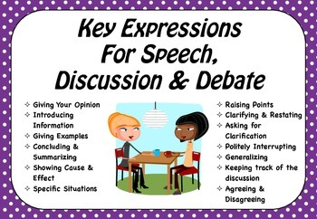 Expressions for Speech, Discussion & Debate