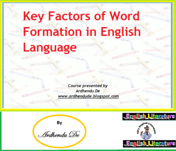 Key Factors of Word Formation in English Language