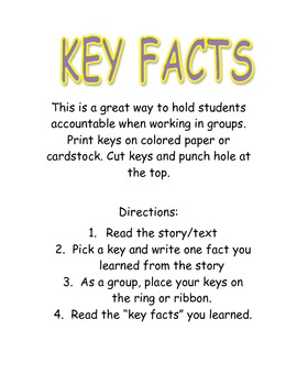 """Key"" Facts/Center activity"