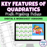 Key Features Characteristics of Quadratic Graphs Math Mystery Picture TEKS A.7A