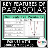 Key Features of Parabolas using Desmos Activity