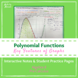 Key Features of Polynomial Graphs Interactive Notes and St