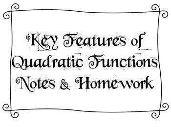 Key Features of Quadratic Functions