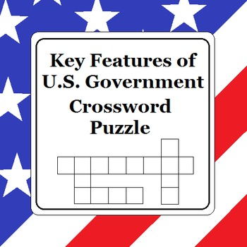 Key Features of U.S. Government Crossword Puzzle (Version 1)
