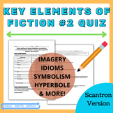 Fiction Key Elements Quiz #2 (SCANTRON VERSION)