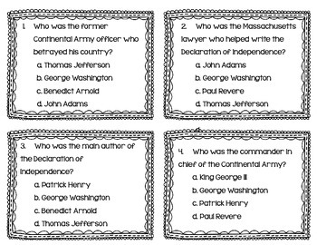 Key Figures & Major Events of the American Revolution Task Cards {Scoot}