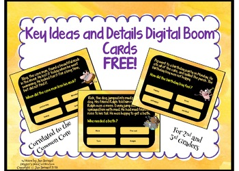 Key Ideas and Details Boom Cards