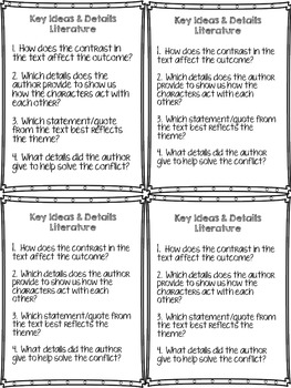 Key Ideas and Details Differentiated Questions