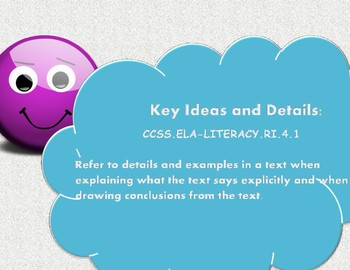 Key Ideas and Details Game