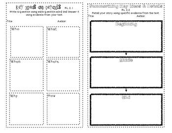 Key Ideas and Details Graphic Organizers