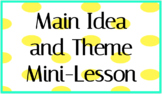 Key Ideas and Details - Main Idea & Theme - INSTANT DOWNLO