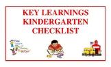 Key Learnings Kindergarten Checklist