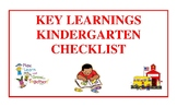 Key Learnings Kindergarten Checklist