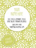 Key Lime Themed Editable Teaching Portfolio