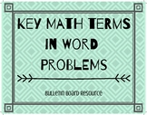 Key Math Terms in Word Problems- Bulletin Board Resource