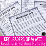 Key People of WWII Reading & Writing Activity (SS5H4, SS5H4d)