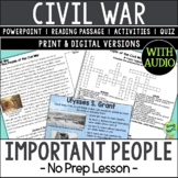 Key People of the Civil War, US Civil War, Ulysses Grant,