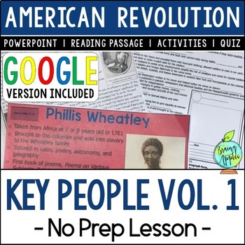 Key People of the American Revolution, Key People in the US Revolution (VOL. 1)