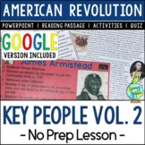 Key People of the American Revolution, Key People in the U