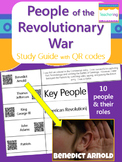 Key People of the American Revolution Study Guide with QR Codes
