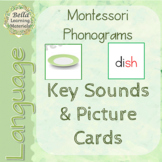 Montessori Key Phonogram Picture & Word Cards - Language -