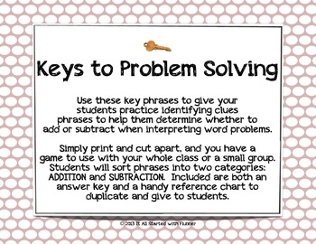 Key Phrases for Problem Solving