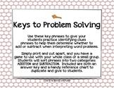 Key Phrases for Problem Solving
