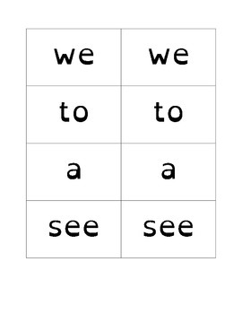 Key Ring Sight Word Cards - Dyslexic Font