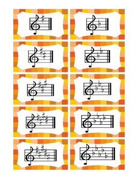 Key SIgnature Flash Cards (Treble Clef)
