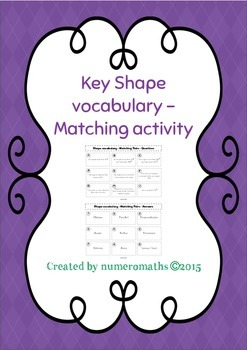 Key Shape terms - Matching activity - Math