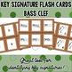 Key Signature Flash Cards - Bass Clef