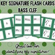 Key Signature Flash Cards - Bass Clef