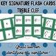 Key Signature Flash Cards - Treble Clef