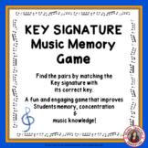 Music Game: Music Memory - Key Signatures