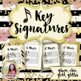 Key Signature Posters for Music Class & Piano Lessons {Chi