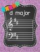 Key Signature Posters & Giant Flash Cards {Chalkboard & Vivid Glitter}