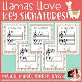Key Signature Posters: Majors & Minors {Llama & Cactus Mus