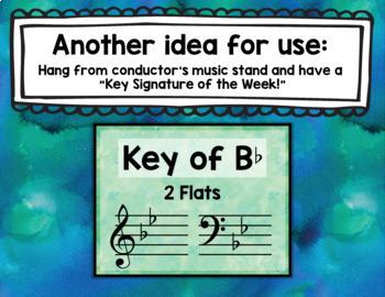 "Music Bulletin Board ""Key Signature"" Music Posters & Flashcards"
