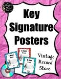 Key Signature {Vintage Record Store} Rainbow Glitter