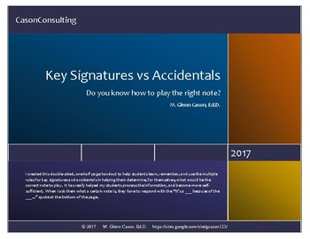 Key Signature vs Accidental student handout