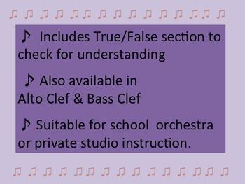 Key Signatures 1 in TREBLE CLEF